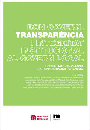 BON GOVERN, TRANSPARÈNCIA I INTEGRITAT INSTITUCIONAL AL GOVERN LOCAL